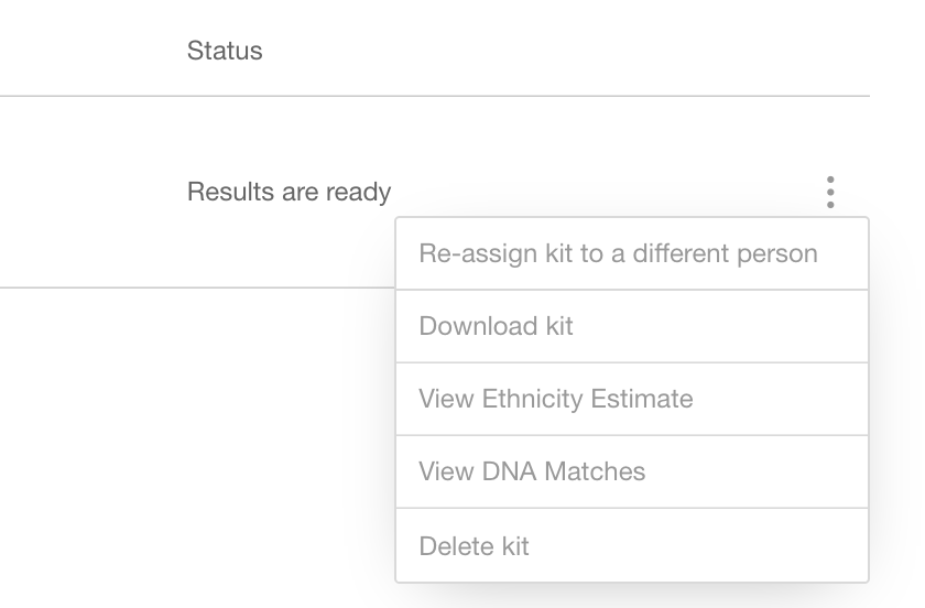 Screenshot of MyHeritage DNA deletion section.
