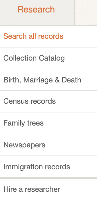 The research section of MyHeritage DNA allows you to dig further into public records to see your relatives.