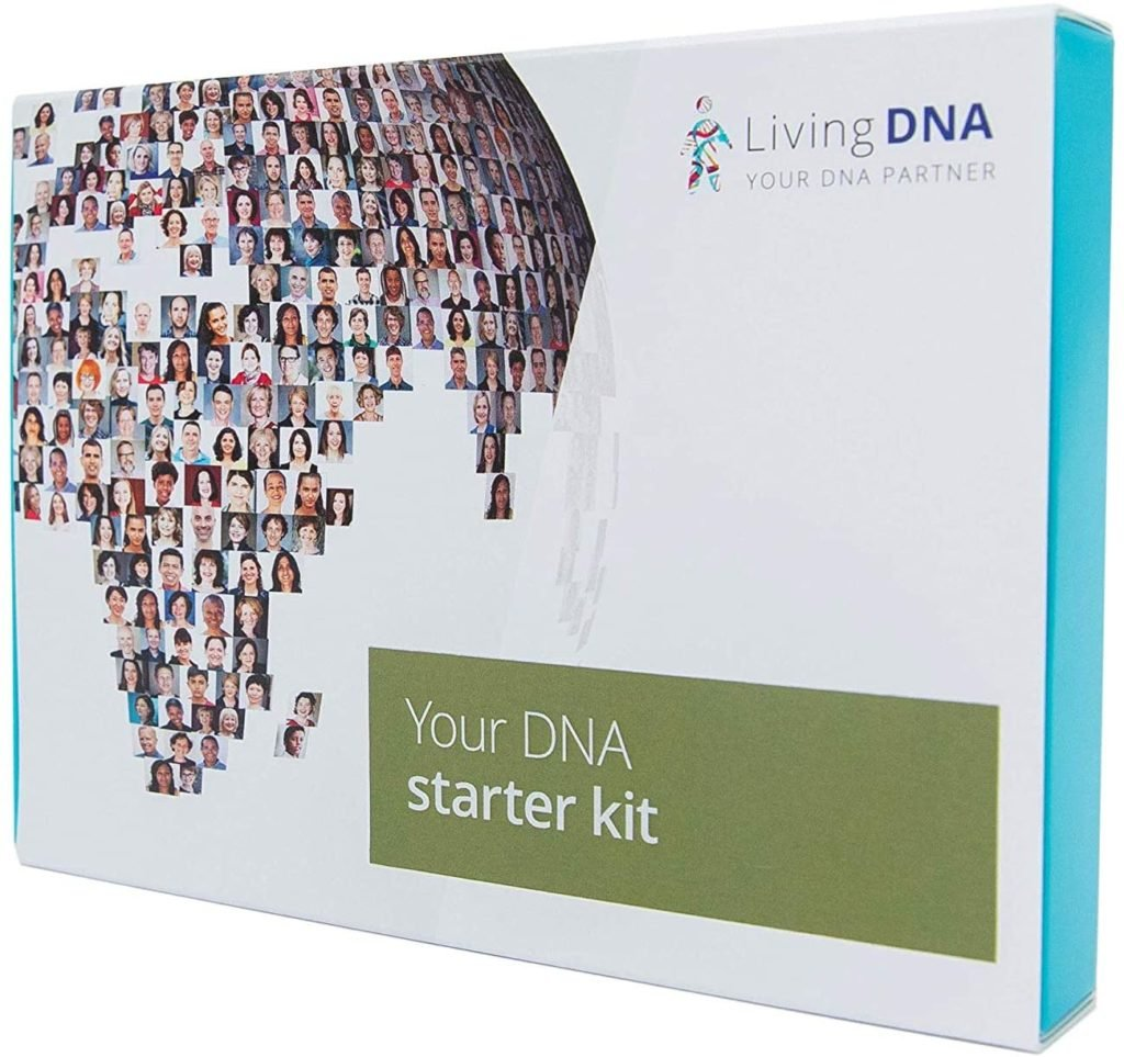 picture of box of living DNA starter kit