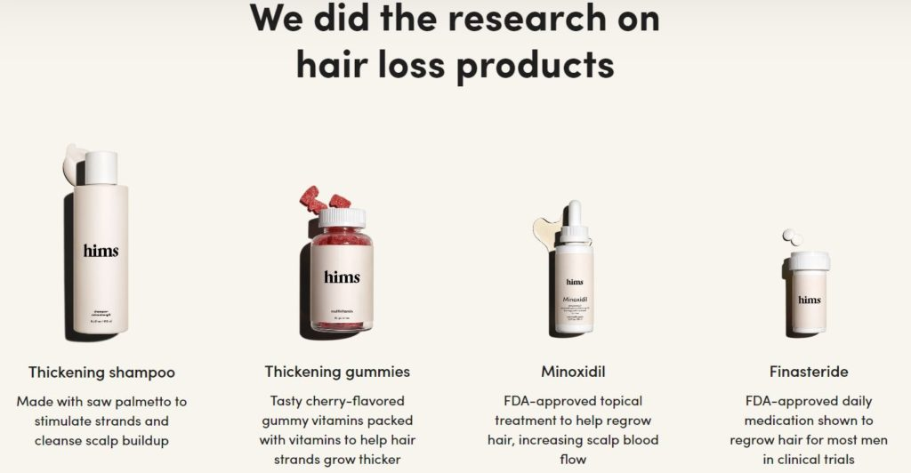 Image of the Hair loss Options from HIms