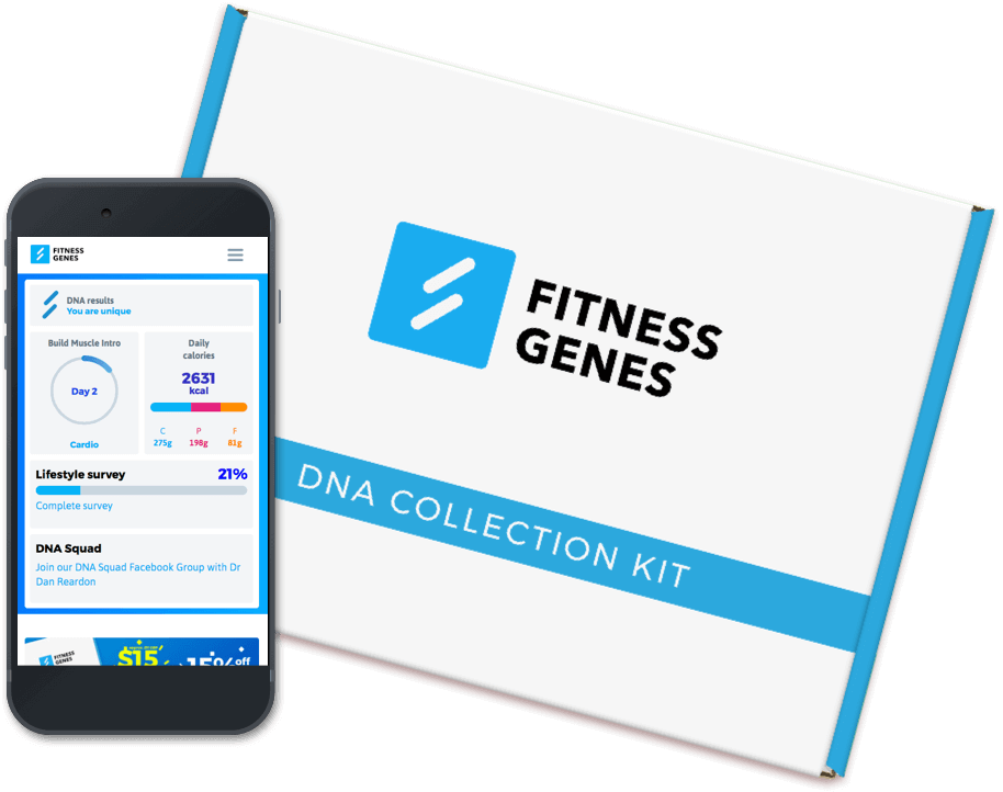 Image of Fitness Genes DNA Collection Kit and App